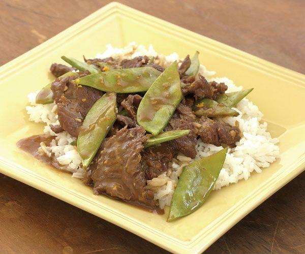 Stir-Fried Orange Beef & Snow Peas Recipe