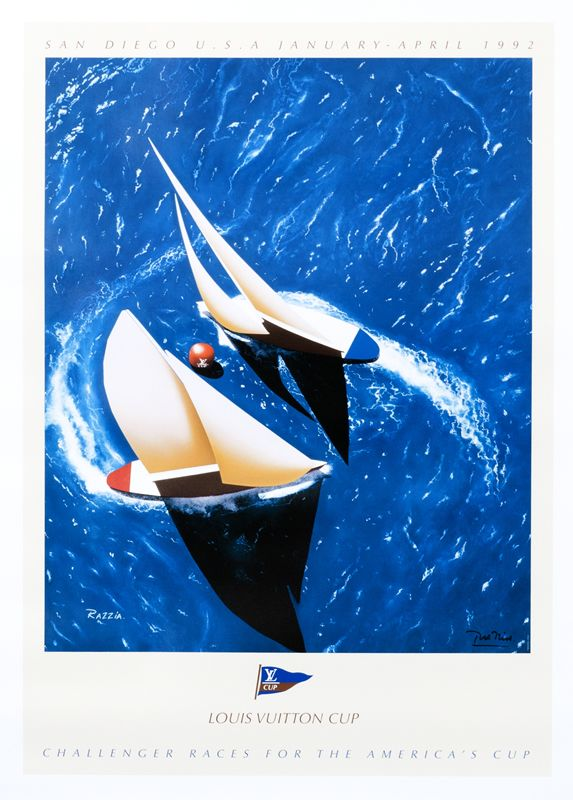 Louis Vuitton Cup - America's Cup - San Diego (medium format open edition) by Razzia   Shop original vintage #posters online: www.internationalposter.com.