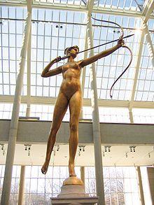 Diana (1892 - 93), Augustus Saint-Gaudens. Bronze, Metropolitan Museum of Art, New York City.