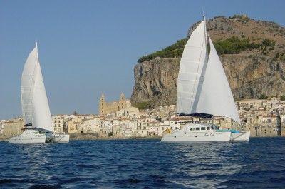 Sailing in waters off Cefalu