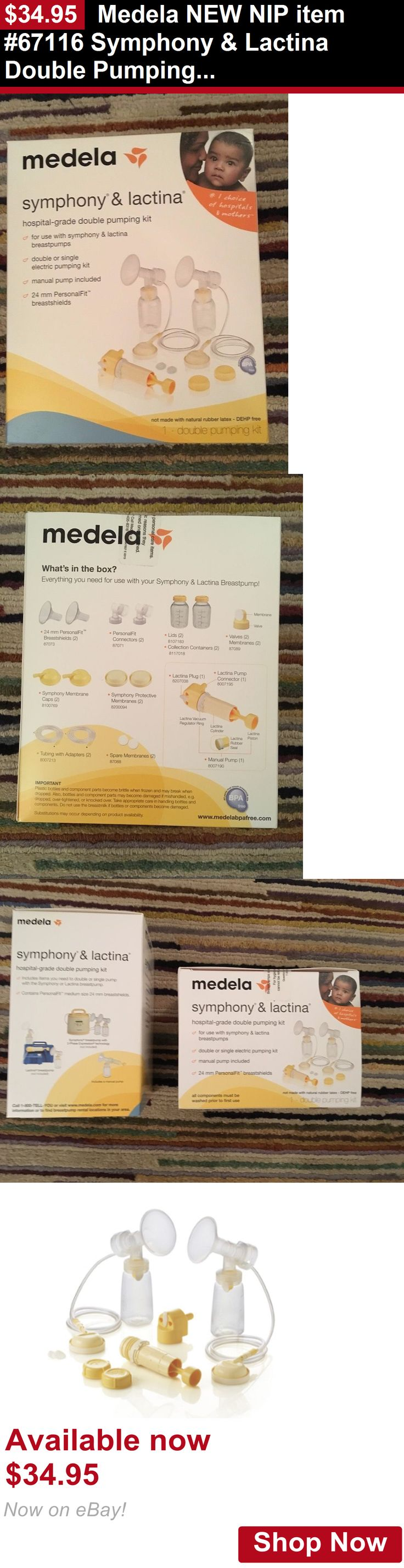 Breastpumps: Medela New Nip Item #67116 Symphony And Lactina Double Pumping Parts Kit Set BUY IT NOW ONLY: $34.95