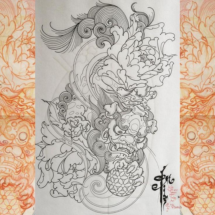 185 best inspirations guardian lion foo dog images on pinterest foo dog japanese tattoos. Black Bedroom Furniture Sets. Home Design Ideas