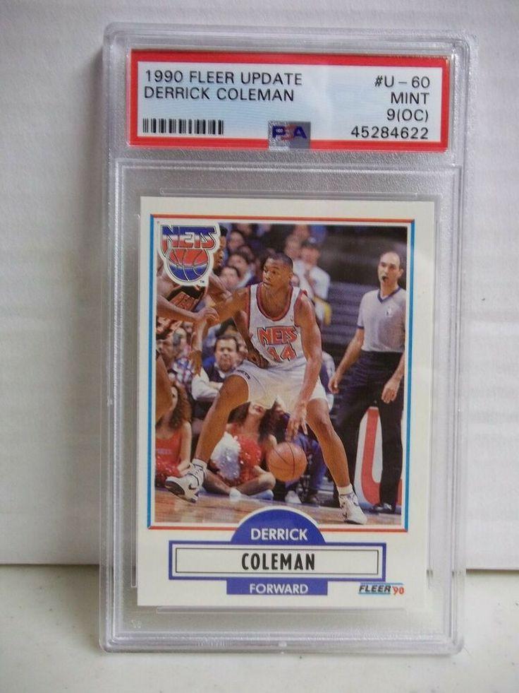 1990 Fleer Derrick Coleman RC PSA Mint 9(OC) Basketball