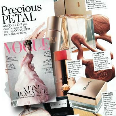 Well pin a rose on our nose - check out the beauty bling in this year's Vogue Brides featuring Vani-T Mineral Powder Foundation!