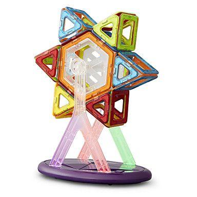 blocos+de+construção+magnéticos+brinquedos+educativos+para+crianças+34+comprimidos+magnéticos+15+peças+de+cor+do+cartão+do+arco-íris+–+BRL+R$+38,06