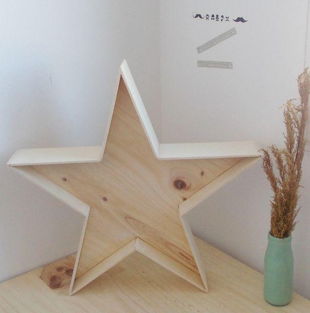 Estrella de pino natural