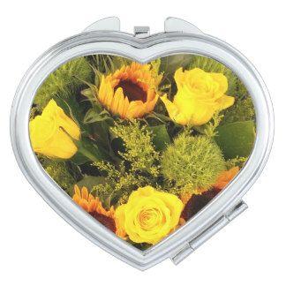 Orange Yellow Flowers Roses Sunflower #Floral Makeup #Mirror