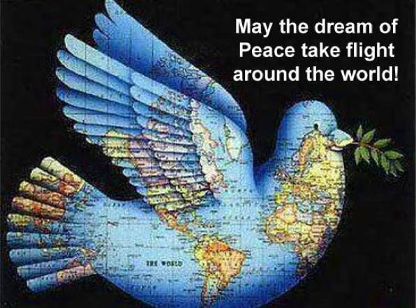 LET'S GET THIS ONETO  FLY AROUND THE WORLD! PIN IT & GET IT ON IT'S WAY..... WE ALL WANT PEACE!