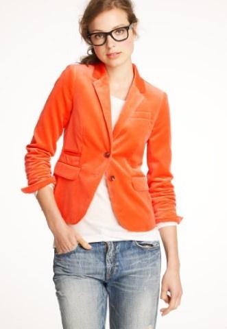 colorful velvet blazer