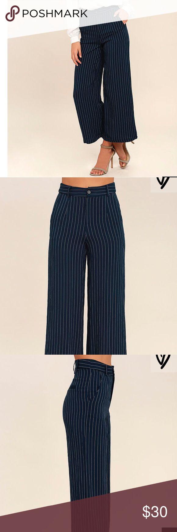 Pinstriped culottes Pinstriped culottes Lulu's Pants Wide Leg