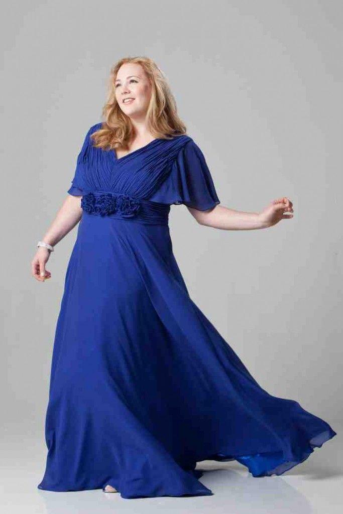 Lovely Plus Size Blue Wedding Dresses