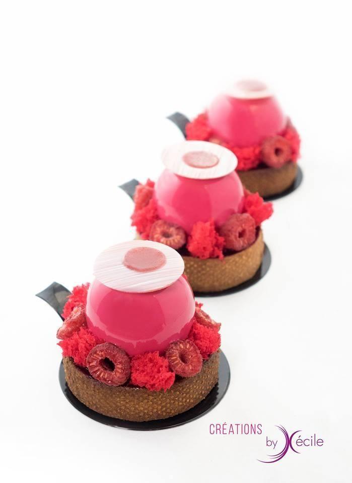 Pâte sablé chocolat - Biscuit moelleux chocolat - Confit de fruits rouge - Mousse au chocolat onctueuse - Glaçage miroir - Biscuit éponge - Décors chocolat