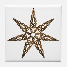 Celtic 7 pointed star Tile Coaster for