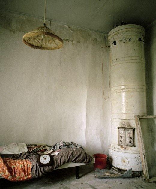 abandoned scandinavian house