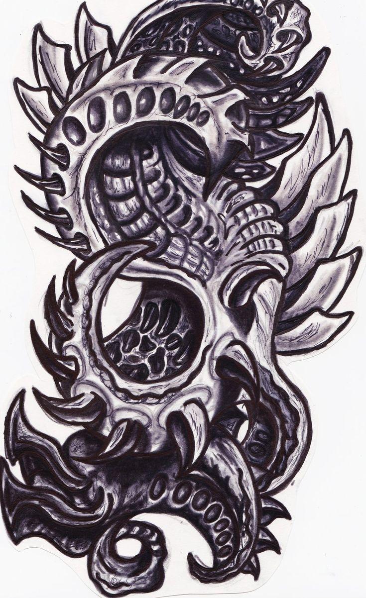 Hr giger tattoo designs - Biomechanical Heart Tattoos Biomechanical Tattoo