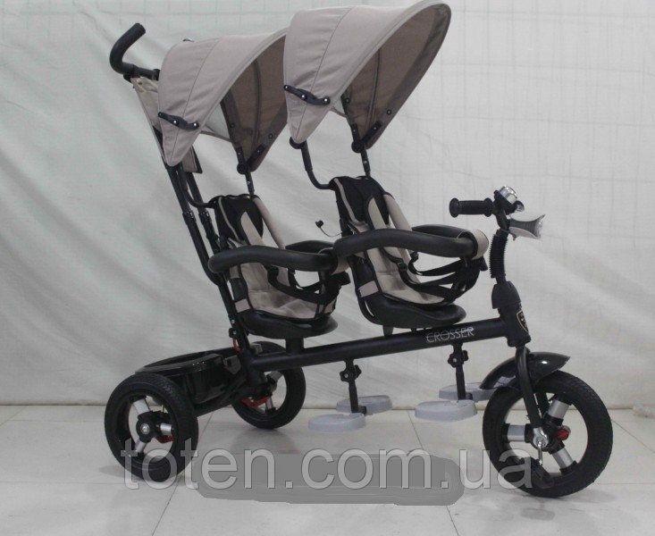 Детский трехколесный велосипед TWINS AIR, красный