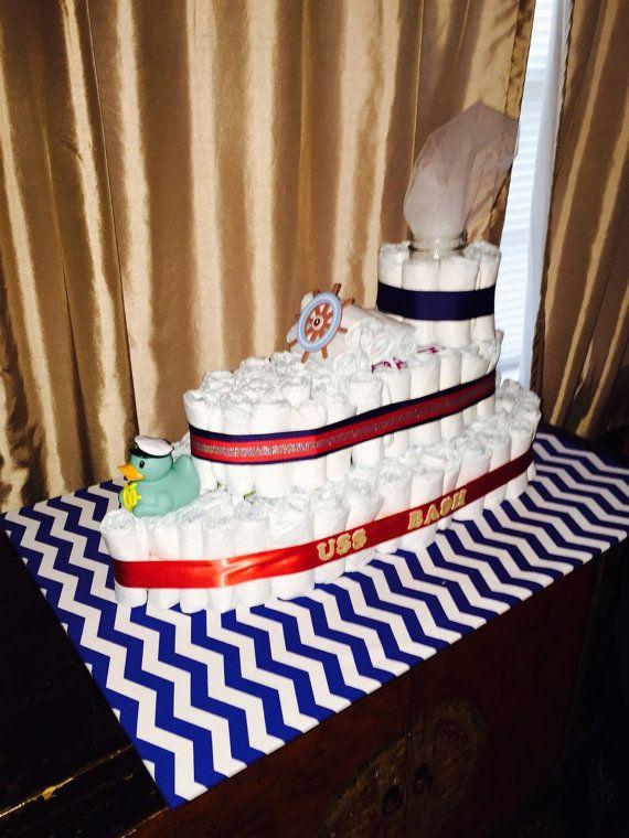Boat diaper cake por SouthernEventDecor en Etsy