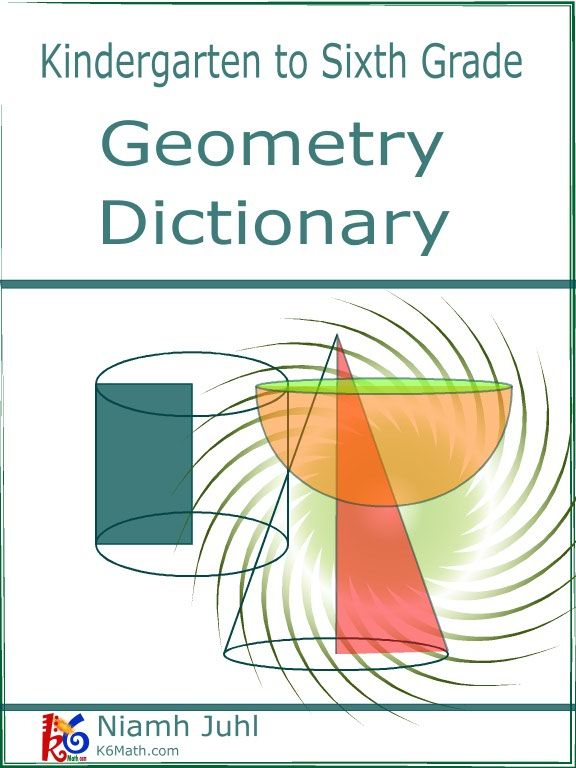A Glossary of Geometric terms for the K6 student in an easy dictionary style format.