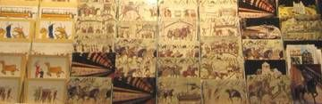 Bayeux Tapestry Museum - Centre Guillaume Le Conquerant - Bayeux France --  See the amazing tapestry created after The Battle of Hastings in 1066