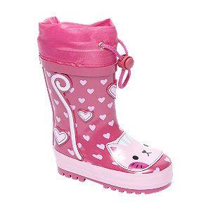 #Cortina #Gummistiefel #pink für #Unisex mit praktischem Gummizug Farbe pink Laufsohle Gummi Obermaterial Gummi Innenmaterial Nylex EVA Baumwolle