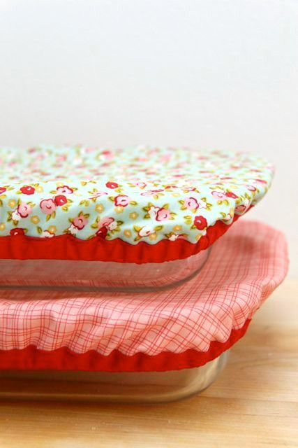 DIY Reusable and Washable Baking Dish Covers @Craftsy