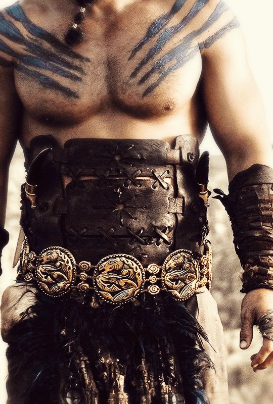 Jason Momoa as Khal Drogo |  gameofthronesdaily:    Game of Thrones + Costume Details | ©