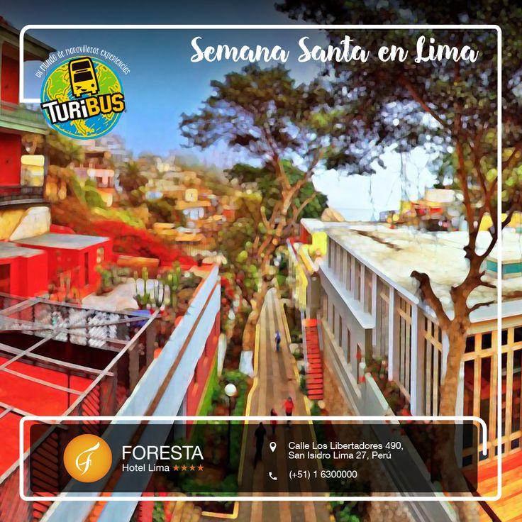 ¡Vive una Semana Santa de relax y entretenimiento en Lima! Descubre nuestros planes especiales para familias y parejas  https://forestahotellima.com/es/semana-santa-en-lima/ *Por estadías de 2 noches: Turibus Mirafores - Barranco GRATIS