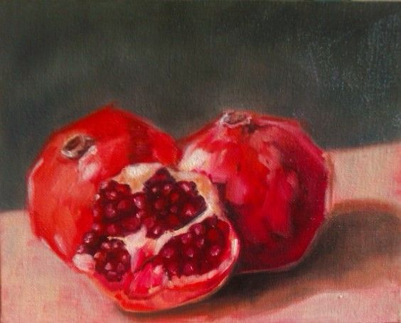 Barbara Becker 100 PAINTINGS IN 100 DAYS Painting #6 Oil on board
