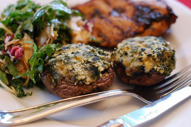 Stuffed-Mushrooms---Web by USDAgov, via Flickr: Food Recipes, Afternoon Snacks, Naptim Chef, Mushrooms Months, Stuffed Mushrooms With Chee, Cheese, Features Recipes, Favorite Recipes, National Mushrooms