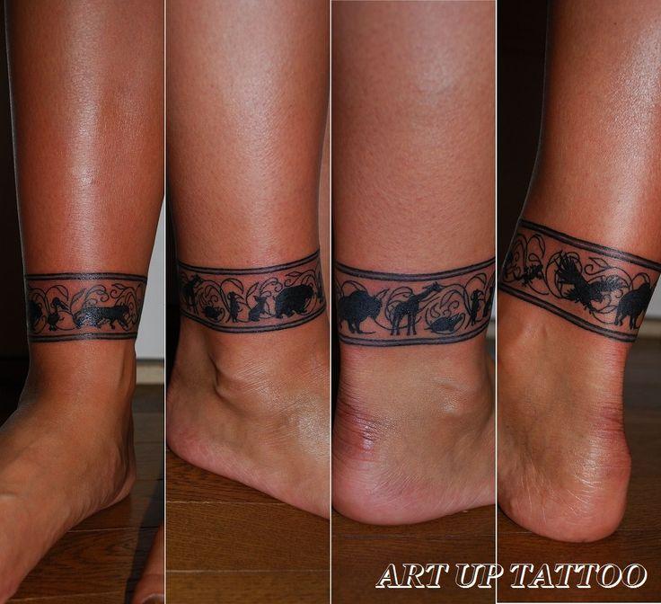 Animalシルエットタトゥー(足首1周) #tattoo #tattoos #tattooart #tattooist #tattooshop #art #bodyart #ink #tribaltattoo #animal #silhouette #タトゥー #タトゥースタジオ #インク #アート #ボディアート #アートアップタトゥー #トライバルタトゥー #アニマル #シルエットタトゥー #腕 #東京タトゥー #日野タトゥー #祐 #女性 #女性彫師