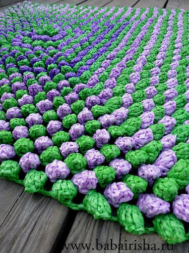 коврик для прихожей  rug in the hallway from plastic bags