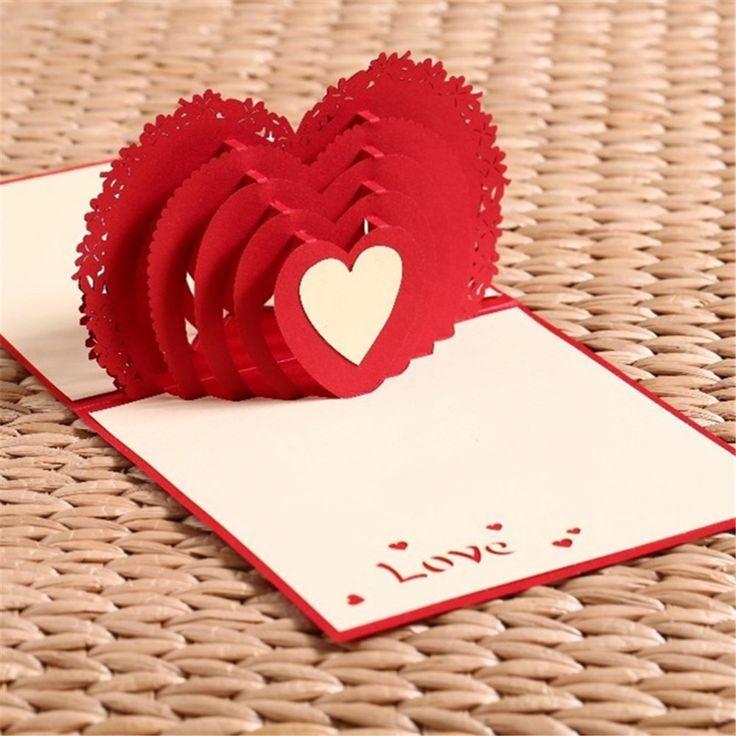 Доброе солнечное, оригами открытка ко дню влюбленных