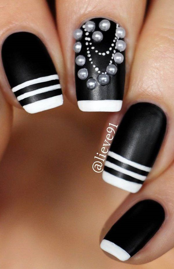 180 best black white nails images on pinterest nail designs 60 dark nails for winter white colorspearl prinsesfo Choice Image