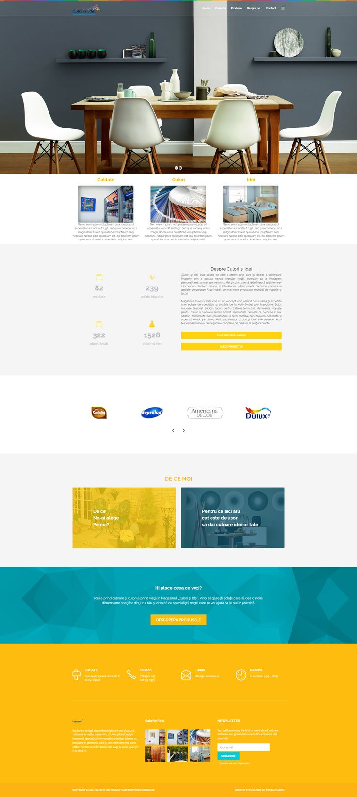 Website design - Colours