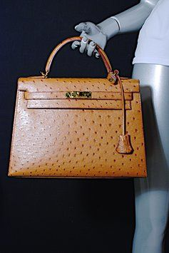 Brown Ostrich Hermes Kelly Satchel | Hermes Kelly, Ostriches and ...