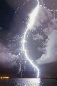 Huge Lightning Bolt Over Tampa Bay,Florida By Old Boone