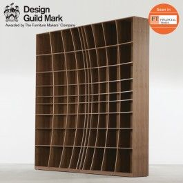 'Concave' Bookcase in Walnut