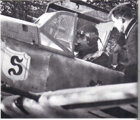 Messerschmitt Bf 109E - Adolf Galland during assignment with Jagdgeschwader 26 (JG 26) Schlageter.