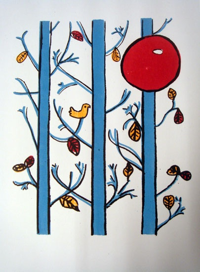 """""""Tapet"""" - Graphic print by Anna Olsson"""