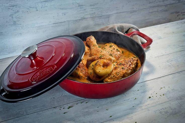 Red La Cuisine 28cm Saute Casserole from La Cuisine Cookware Ireland.