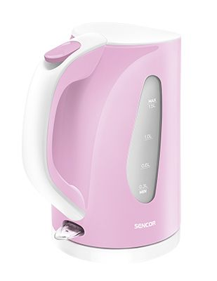 Sencor SWK 38 RS water kettle I'm the color of the delicate blooms of early spring that transform cherry trees into magnificent bouquets. The color brings to your kitchen tenderness, beauty and an embrace of delicacy and feeling. It's a little sentimental, but it soothes and warms. And what can I do? I heat water to the temperature you want, and I keep it there. I have an extra-fine filter...I work like lightning.