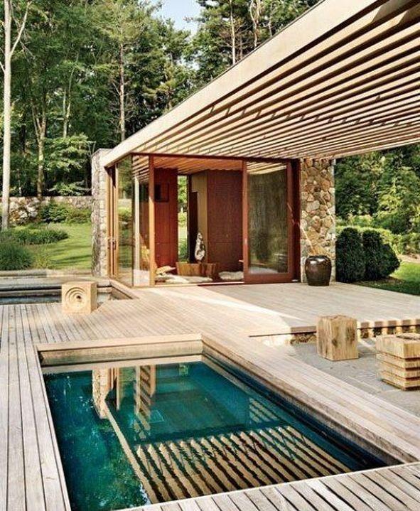 30 Gorgeous Mini Pool Garden Designs For Tiny House Pool Houses Small Pool Design Modern Pools