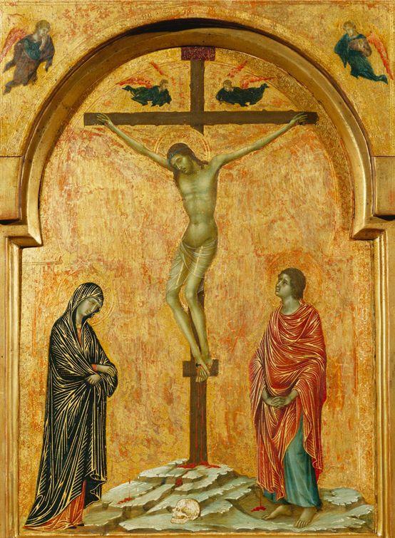 Duccio di Boninsegna - Trittico a sportelli - Crocefissione - 1302 -1308 - Famiglia Reale Inglese