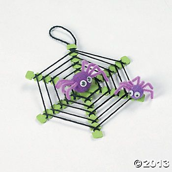 Spiderweb With Spiders Craft Kit - Oriental Trading