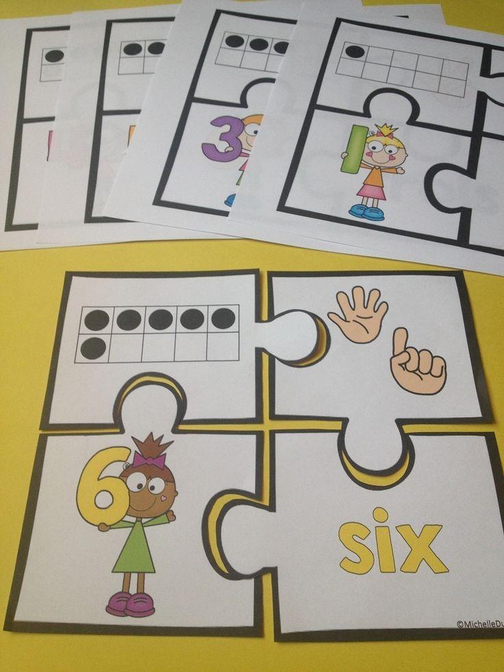Nombres: Nombres: Cette ressource contient 11 casse-tête qui sont parfaits pour la pratique des nombres de 0 à 10.