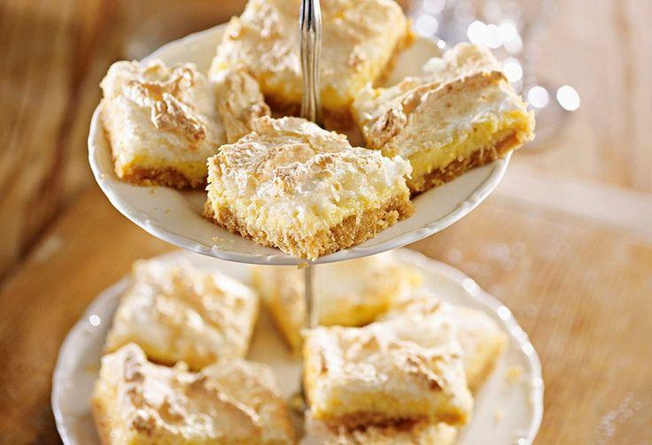 Lemon meringue pie has been turned into this delicious slice.