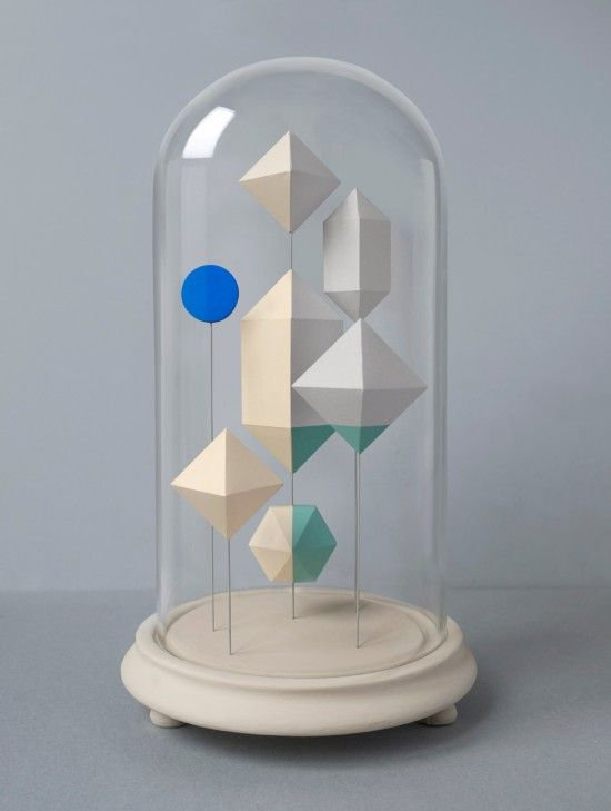 Mark just completed Jar No.4, paper polygons with a lovely wooden spot in blue. Very nice indeed. Below you can also view Jars 1 to 3. It's hard to choose a favourite!