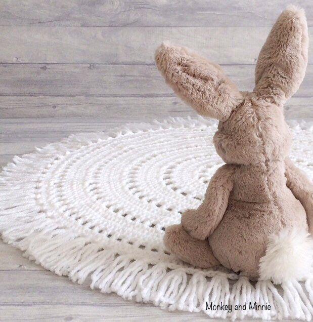 Nursery Playmat Crochet Rug Fringe Rug Kids Rugs Nursery Rugs Childrens Rugs
