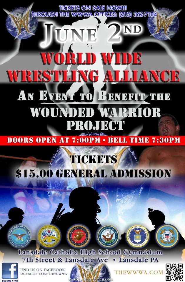 June poster to benefit the Wounded Warrior Foundation ~thewwwa.com