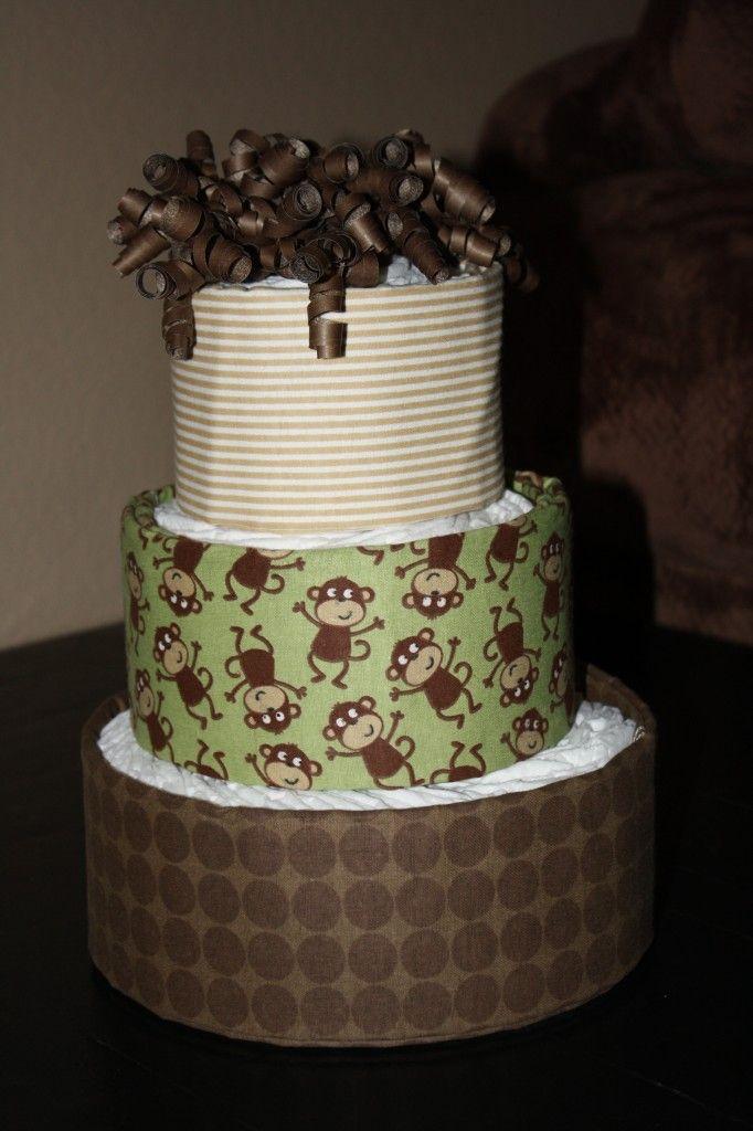 Baby Shower Diaper Cake #DIY